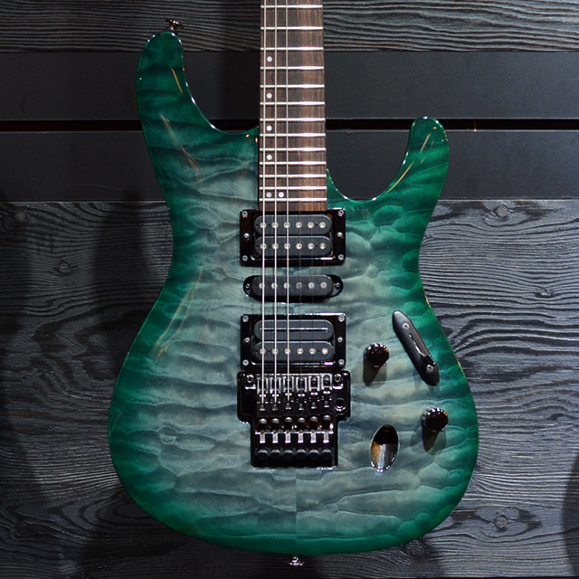 [중고] Ibanez Prestige S5570Q Dark Green Doom Burst 2015'