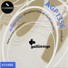 이테리 갈리 어쿠스틱 스트링 Galli String - AGP1356 ProCoated Phosphor Bronze Medium(013-056)