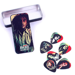 Dunlop Pick Tin - Bob Marley Collectible Pick Tin BOBPT01M (Medium 게이지)