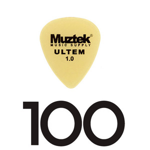 Muztek - Ultem Pick (1.00mm) 100개 한봉지